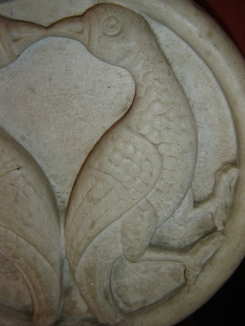 Close up of marble roundel - image copyright owned by Leeds Castle Enterprises Ltd