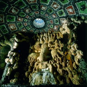Inside the underground Grotto at Leeds Castle. Image copyright belongs to Leeds Castle Enterprises Ltd