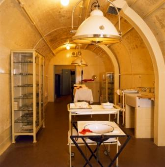 Underground Operating Theatre at Dover Castle. Image ©English Heritage