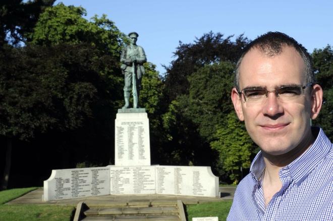 Matt Ball at the Sevenoaks Memorial. ©Sevenoaks Chronicle
