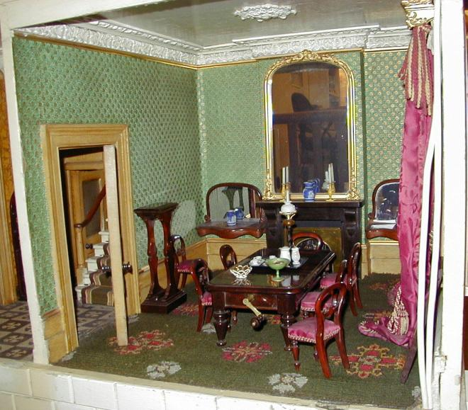 Rigg Dolls' House Dining Room - Image copyright held by the Tunbridge Wells Museum