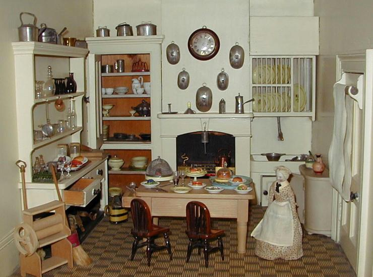 Rigg Doll's House Kitchen - Image copyright held by the Tunbridge Wells Museum