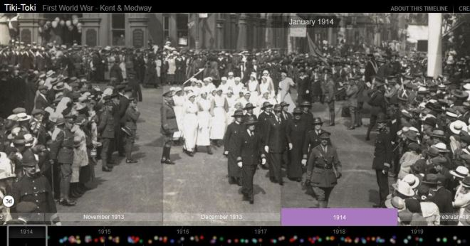 Opening image of the Kent & Medway WWI Historical Timeline