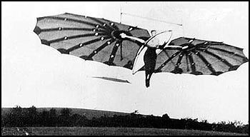Percy Sinclair Pilcher flying the Hawk at Eynsford, Kent - Public Domain image