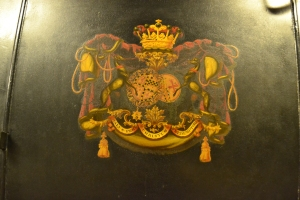 Coat of arms displayed on the 12th Earl of Moray's Coach. Image ©Rachael Hale (The History Magpie)