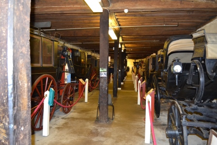 A queue of carriages waiting to deliver their bejewelled occupants to the ball or the inside of the Tyrwhitt-Drake Carriage Museum? Image ©Rachael Hale (The History Magpie) 2014