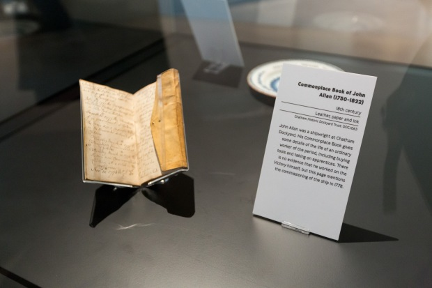 John Allen's commonplace book at Historic Dockyard Chatham  Image taken by Manu Palomeque