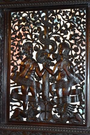 Middle panel depicting the Royal couple as Adam and Eve ©Rachael Hale