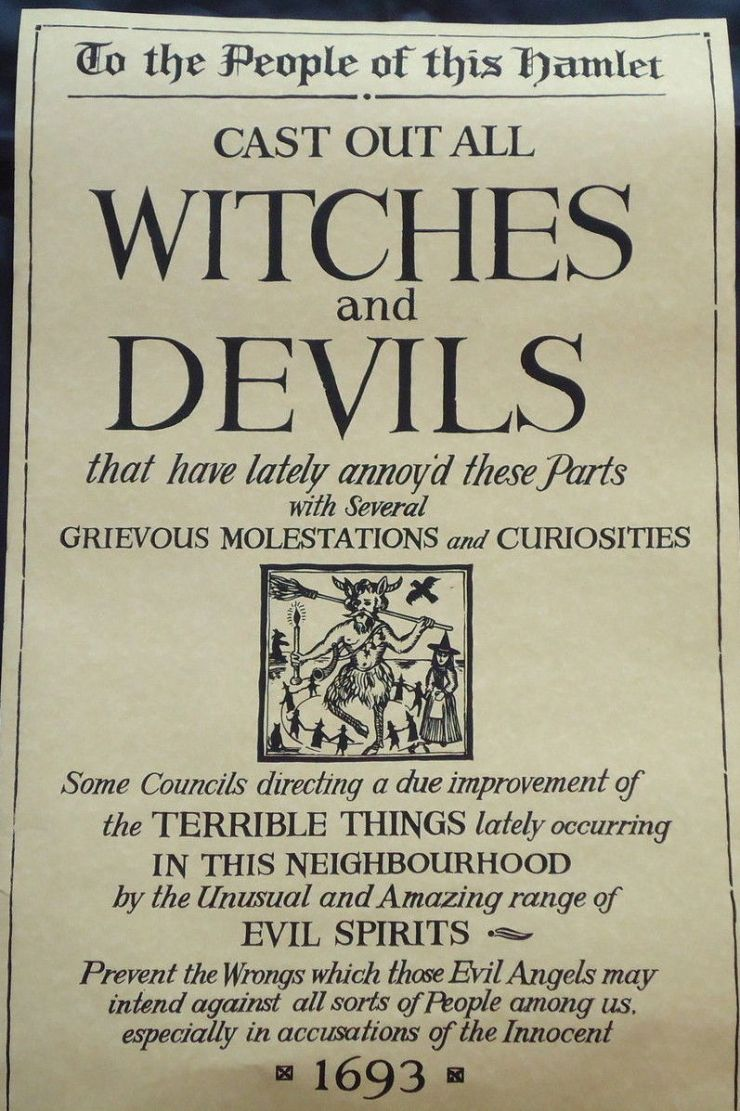 Anonymous copy of original 1693 'Cast out all Witches and Devils' poster