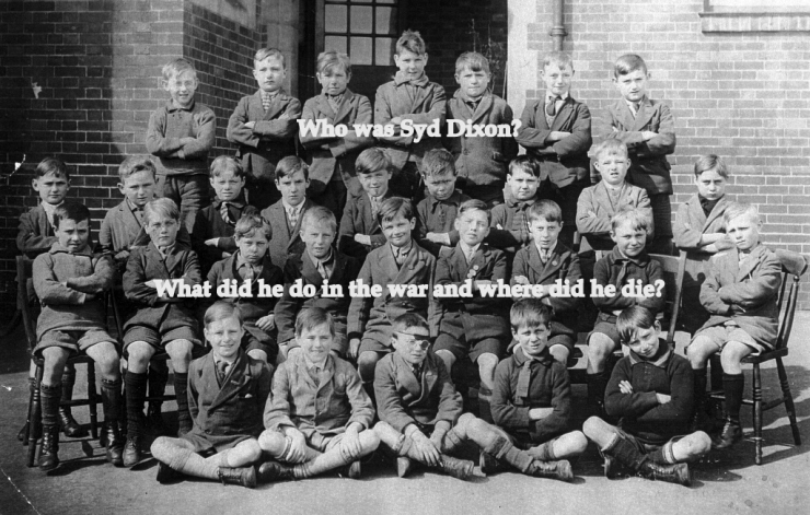 Pre WW2 boys at St Matthew's School, including Syd Dixon, who died 12 December 1942, aged 20