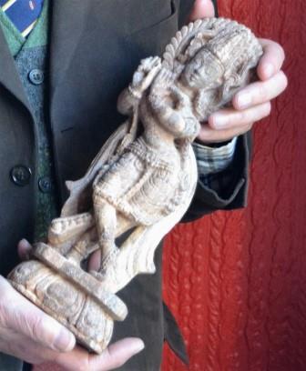 13th Century Sandstone Temple Statue of Shiva