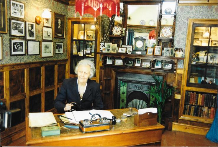 Dame Jean Conan Doyle at the Arthur Conan Doyle Museum Groombridge Place