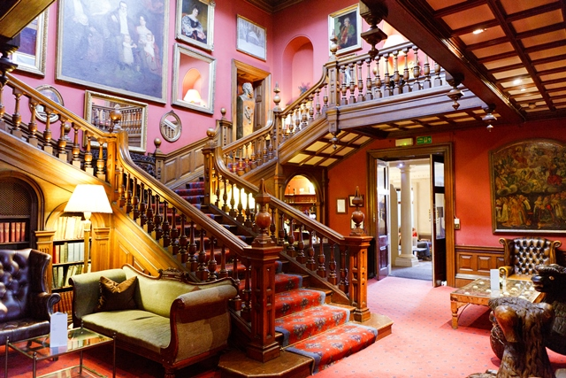 The Chinese Chippendale Imperial Staircase at Chilston Park Hotel, Kent