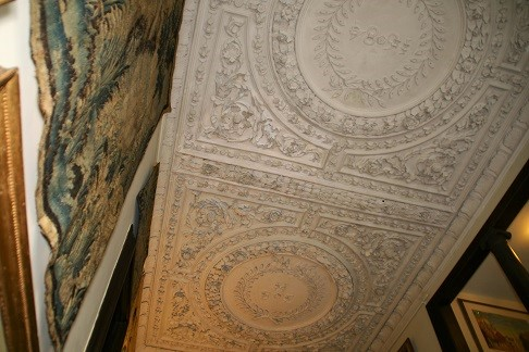 The stunning Carolean plasterwork ceiling at Owletts. Kindly published with the permission of Owletts and the National Trust.