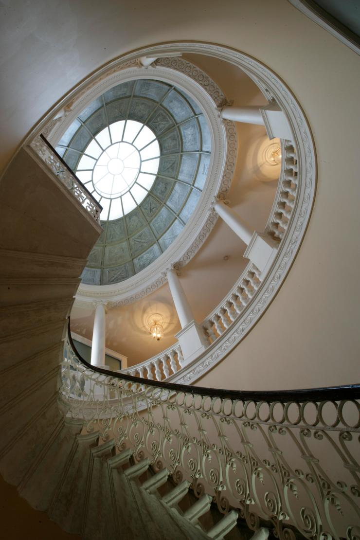 The central elliptical staircase at Danson House, Kent. Image taken by Rachael Hale with the kind permission of Danson House.