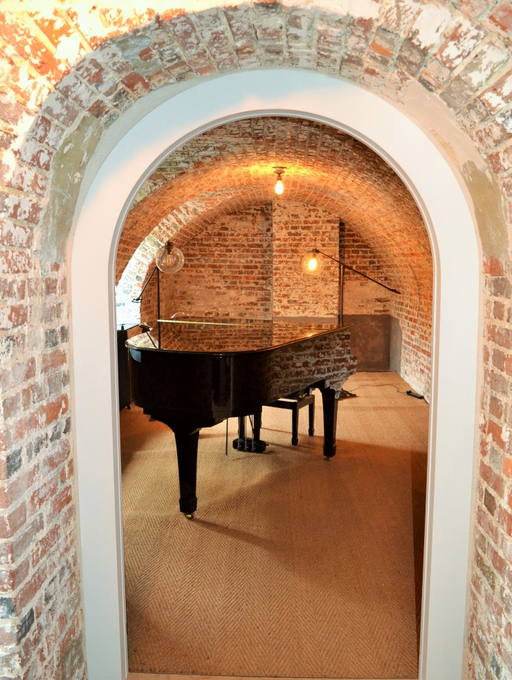 A private practice room within Finchcocks Piano School's Music Cellar. Image copyright Rachael Hale